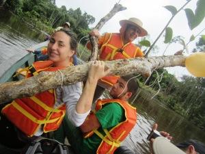un şezlong în mijlocul Amazonului