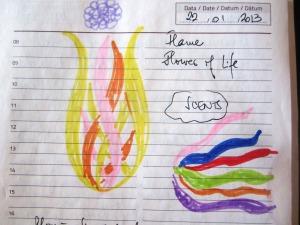 flăcări, floarea vieţii, parfumuri