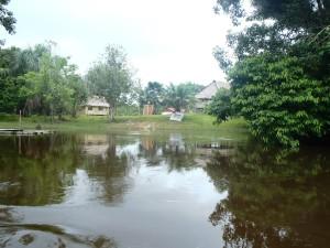 Satul Shipibo în care ne petrecem stagiul de junglă